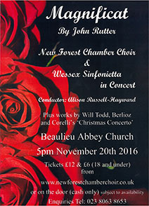 Magnificat by John Rutter - Beaulieu Abbey Church 20 Nov 2016