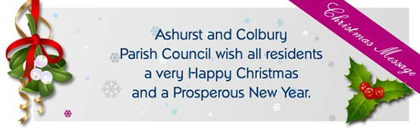shurst and Colbury Parish Council wish all residents a very happy Christmas and a prosperous New Year