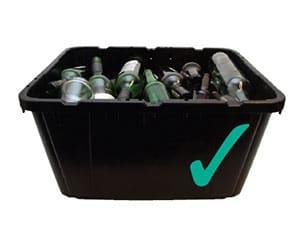 Glass recycling box