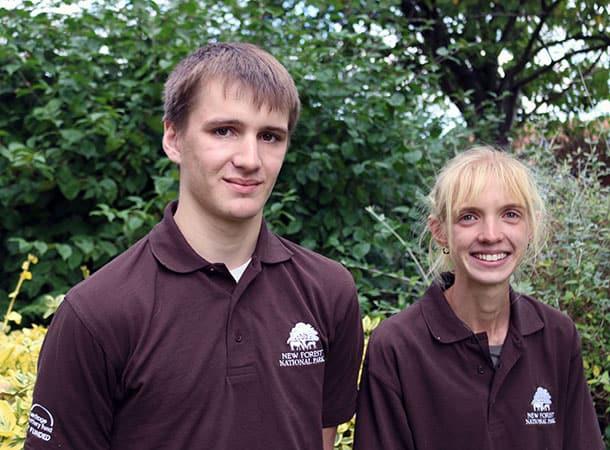 Apprentice Rangers Joe Ison and Katherine Argyrou